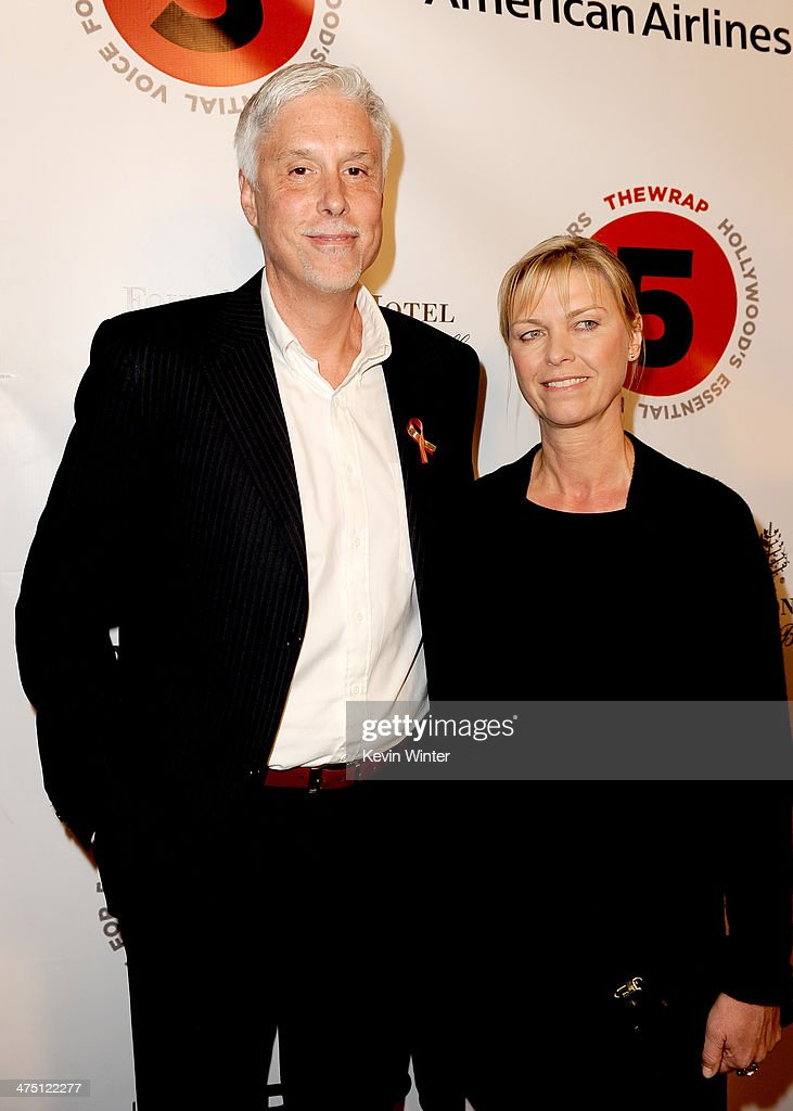 Editor <a gi-track='captionPersonalityLinkClicked' href=/galleries/search?phrase=Christopher+Rouse&family=editorial&specificpeople=4159557 ng-click='$event.stopPropagation()'>Christopher Rouse</a> and Anne Hoeller attend TheWrap's 5th Annual Oscar Party at Culina Restaurant at the Four Seasons Los Angeles on February 26, 2014 in Beverly Hills, California.