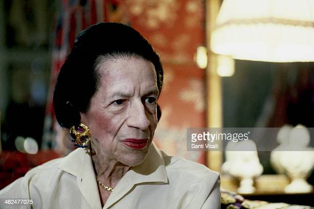 Editor Diana Vreeland posing for a portrait on July 10 1982 in New York New York