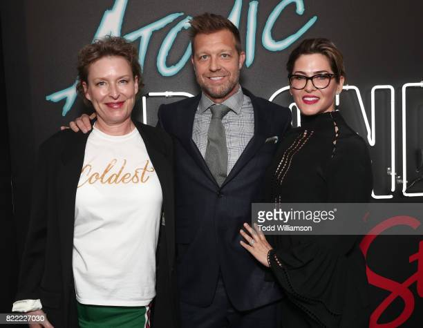 Editor Elisabet Ronaldsdottir Director David Leitch and Producer Kelly McCormick attend the premiere Of Focus Features' 'Atomic Blonde' at The...