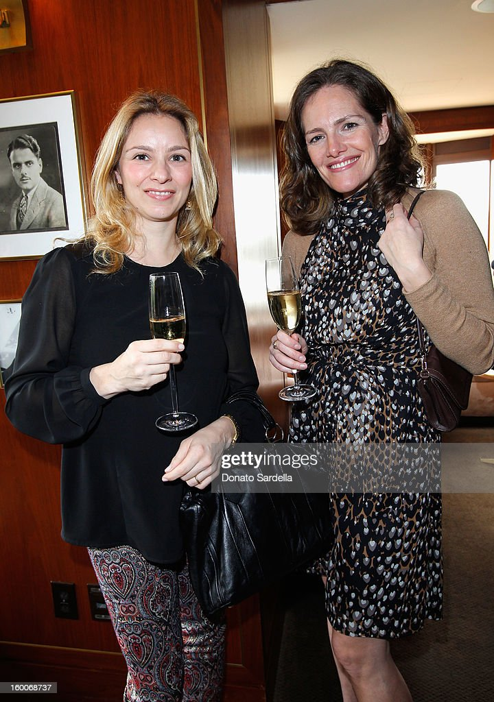 Editor Gaia Filippi and Marybeth Bentwood attend the Champagne Taittinger Women in Hollywood Lunch hosted by Vitalie Taittinger at Sunset Tower on January 25, 2013 in West Hollywood, California.