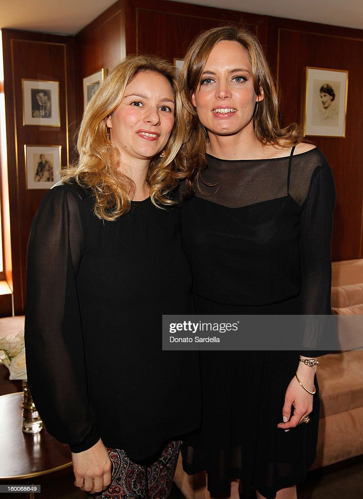 Editor Gaia Filippi and Vitalie Taittinger attend the Champagne Taittinger Women in Hollywood Lunch hosted by Vitalie Taittinger at Sunset Tower on January 25, 2013 in West Hollywood, California.