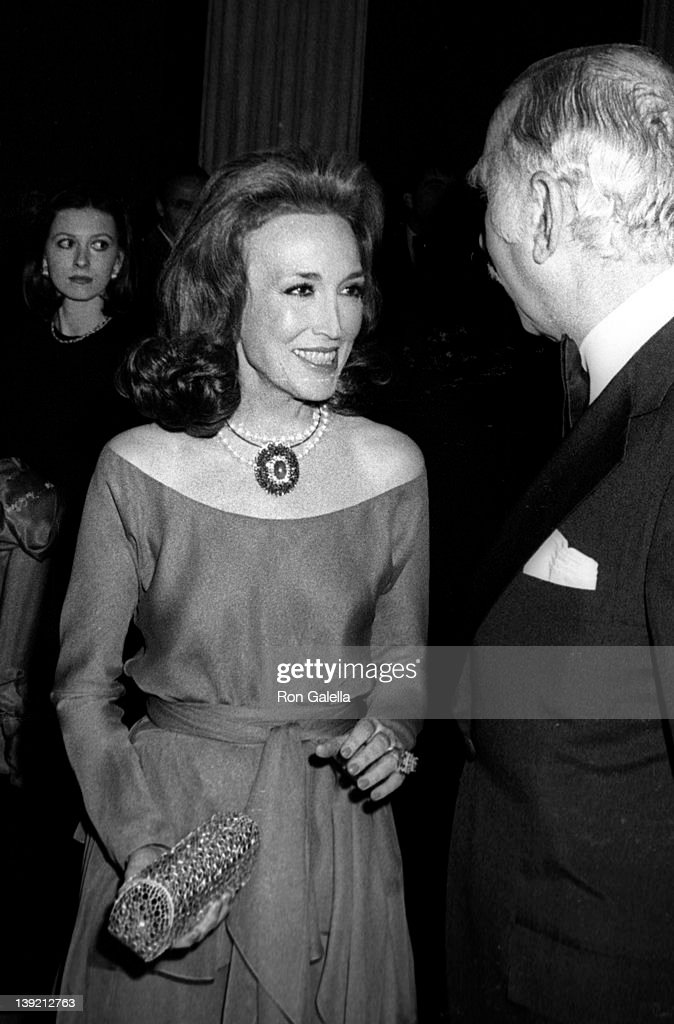 Editor <a gi-track='captionPersonalityLinkClicked' href=/galleries/search?phrase=Helen+Gurley+Brown&family=editorial&specificpeople=215179 ng-click='$event.stopPropagation()'>Helen Gurley Brown</a> and husband David Brown attend Diana Vreeland Costume Exhitition 'The Glory of Russian Costume' on December 6, 1976 at the Metropolitan Museum of Art in New York City.