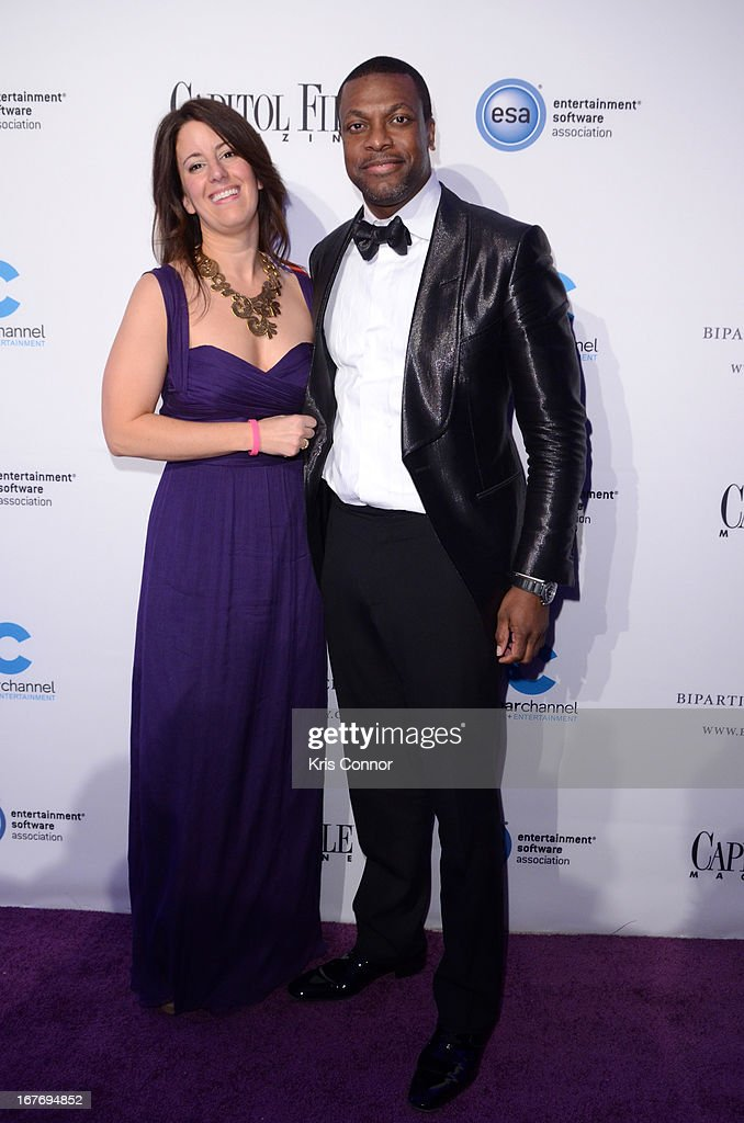 Editor in chief and publisher of Capitol File Magazine Sarah Schaffer (L) and actor <a gi-track='captionPersonalityLinkClicked' href=/galleries/search?phrase=Chris+Tucker&family=editorial&specificpeople=203254 ng-click='$event.stopPropagation()'>Chris Tucker</a> attend Capitol File's White House Correspondents' Association Dinner after party presented by The Bipartisan Policy Center on April 27, 2013 in Washington, DC.