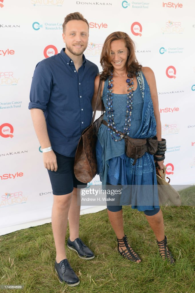 Editor in Chief at InStyle <a gi-track='captionPersonalityLinkClicked' href=/galleries/search?phrase=Ariel+Foxman&family=editorial&specificpeople=2257678 ng-click='$event.stopPropagation()'>Ariel Foxman</a> and designer Donna Karan attend the Ovarian Cancer Research Fund's 16th Annual Super Saturday hosted by Kelly Ripa and Donna Karan at Nova's Ark Project on July 27, 2013 in Water Mill, NY.