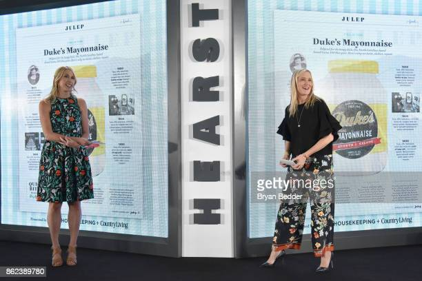Editor in Chief Country Living Rachel Barrett and Editor in Chief Good Housekeeping Jane Francisco speak onstage at Hearst Magazines' Unbound Access...