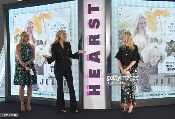 Editor in Chief Country Living Rachel Barrett Molly Sims and Editor in Chief Good Housekeeping Jane Francisco speak onstage at Hearst Magazines'...