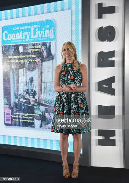 Editor in Chief Country Living Rachel Barrett speaks onstage at Hearst Magazines' Unbound Access MagFront at Hearst Tower on October 17 2017 in New...