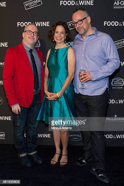 Editor in Chief Dana Cowin with coowners of The Big Gay Ice Cream Shop Bryan Petroff and Doug Quint attend the 2014 FOOD WINE Best New Chefs Party at...