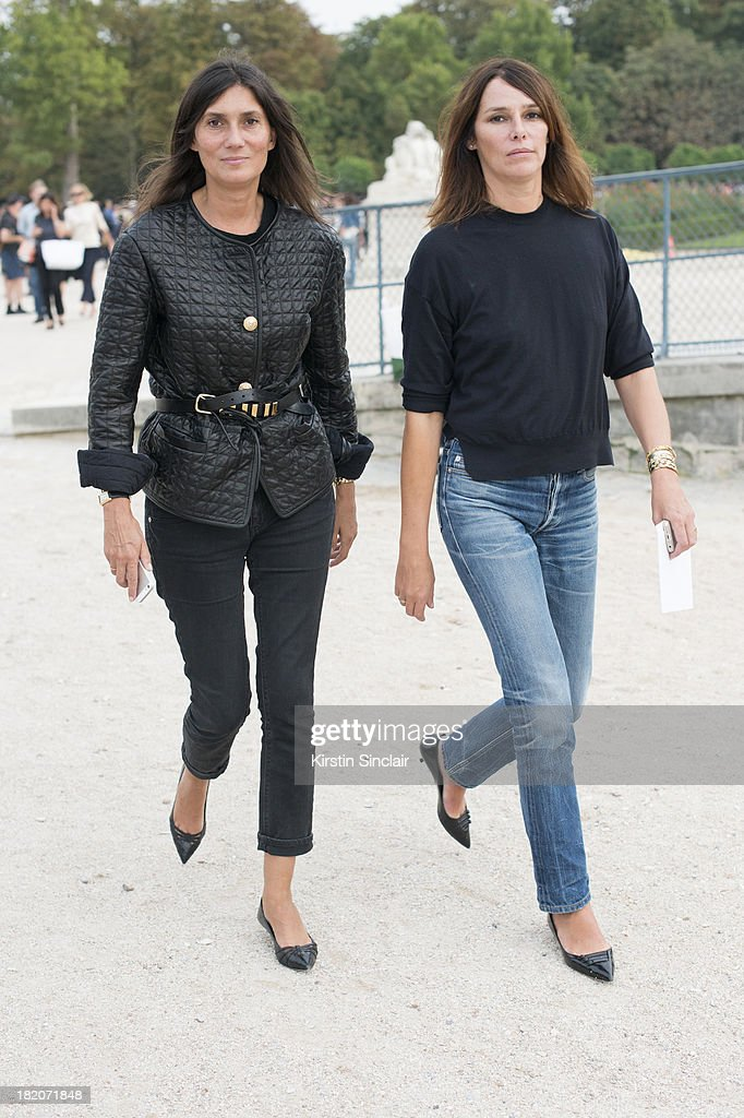Editor in chief for Vogue France Emmanuelle Alt and a guest on day 3 of Paris Fashion Week Spring/Summer 2014, Paris September 26, 2013 in Paris, London.