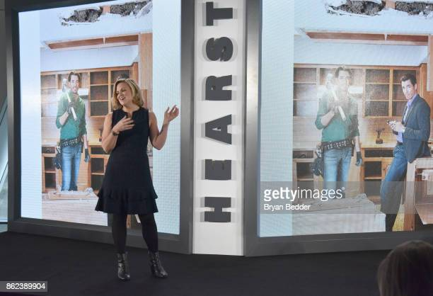 Editor in Chief HGTV Magazine Sara Peterson speaks onstage Hearst Magazines' Unbound Access MagFront at Hearst Tower on October 17 2017 in New York...