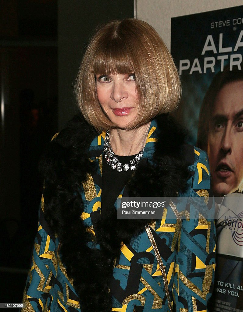 Editor in Chief of American Vogue <a gi-track='captionPersonalityLinkClicked' href=/galleries/search?phrase=Anna+Wintour&family=editorial&specificpeople=202210 ng-click='$event.stopPropagation()'>Anna Wintour</a> attends the 'Alan Partridge' New York screening at Landmark's Sunshine Cinema on April 2, 2014 in New York City.