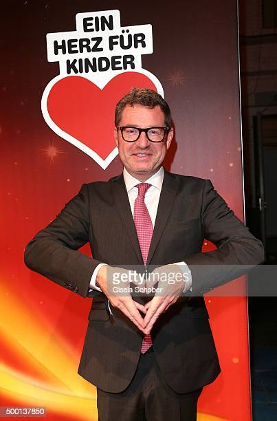 Editor in chief of BILD Kai Diekmann attends the Ein Herz Fuer Kinder Gala 2015 reception at Tempelhof Airport on December 5 2015 in Berlin Germany