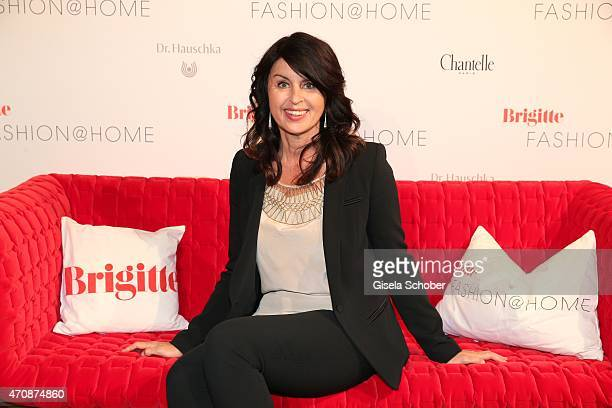 Editor in chief of 'Brigitte' Brigitte Huber during the Brigitte Fashion @Home event on April 23 2015 in Munich Germany