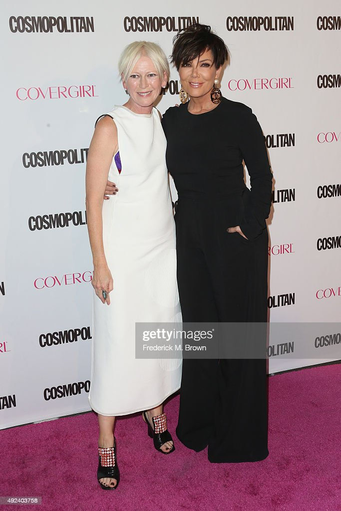 Editor in Chief of Cosmopolitan Joanna Coles and TV personality Kris Jenner attend Cosmopolitan's 50th Birthday Celebration at Ysabel on October 12...