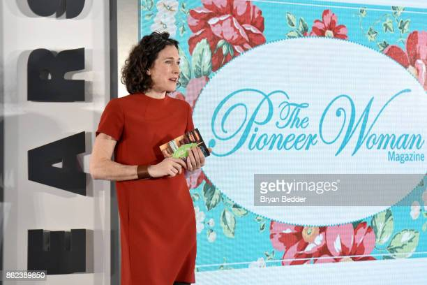 Editor in Chief of Food Network Magazine Maile Carpenter speak onstage at Hearst Magazines' Unbound Access MagFront at Hearst Tower on October 17...