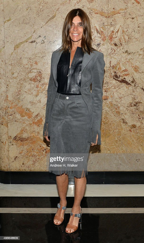 Editor in chief of French Vogue, Carine Roitfeld attends the Gucci beauty launch event hosted by Frida Giannini on June 4, 2014 in New York City.