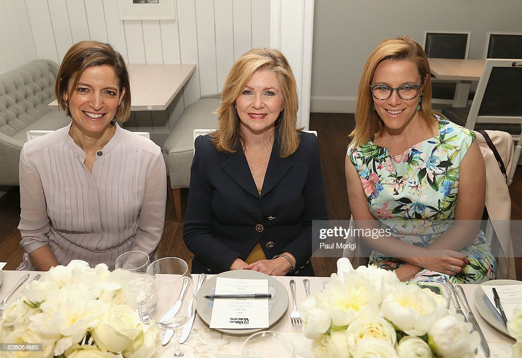 Editor in Chief of Glamour magazine, Cindi Leive Congresswomen, Marcha Blackburn, and Political commentator, SE Cupp attend the Glamour and Facebook brunch to discuss sexism in 2016, during WHCD Weekend at Kinship on April 29, 2016 in Washington, DC.