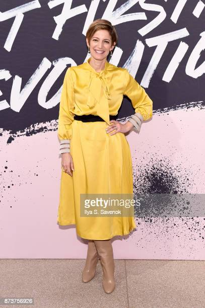 Editor in Chief of Glamour magazine Cindi Leive poses during Glamour Celebrates 2017 Women Of The Year Live Summit at Brooklyn Museum on November 13...