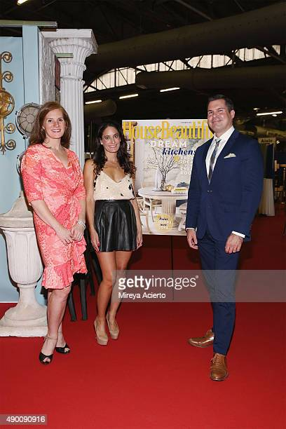 Editor in Chief of House Beautifu Magazine Sophie Donelson Founder of NYC Big Flea Dee Dee Sides and Director of House Beautiful Jon Walker attend...