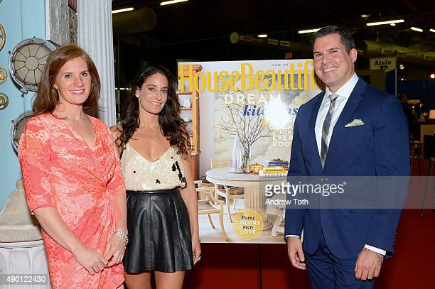Editor in Chief of House Beautiful Magazine Sophie Donelson Founder of NYC Big Flea Dee Dee Sides and Director of House Beautiful Jon Walker attend...