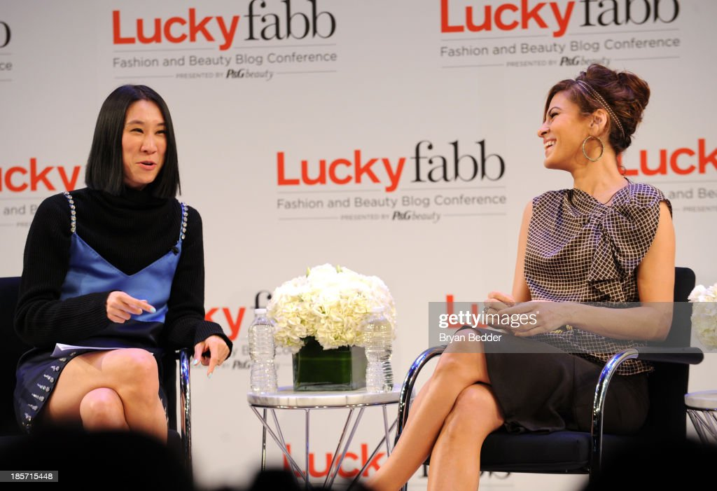 Editor in Chief of Lucky, Eva Chen and Eva Mendes speak at the Lucky Magazine's Two-Day East Coast