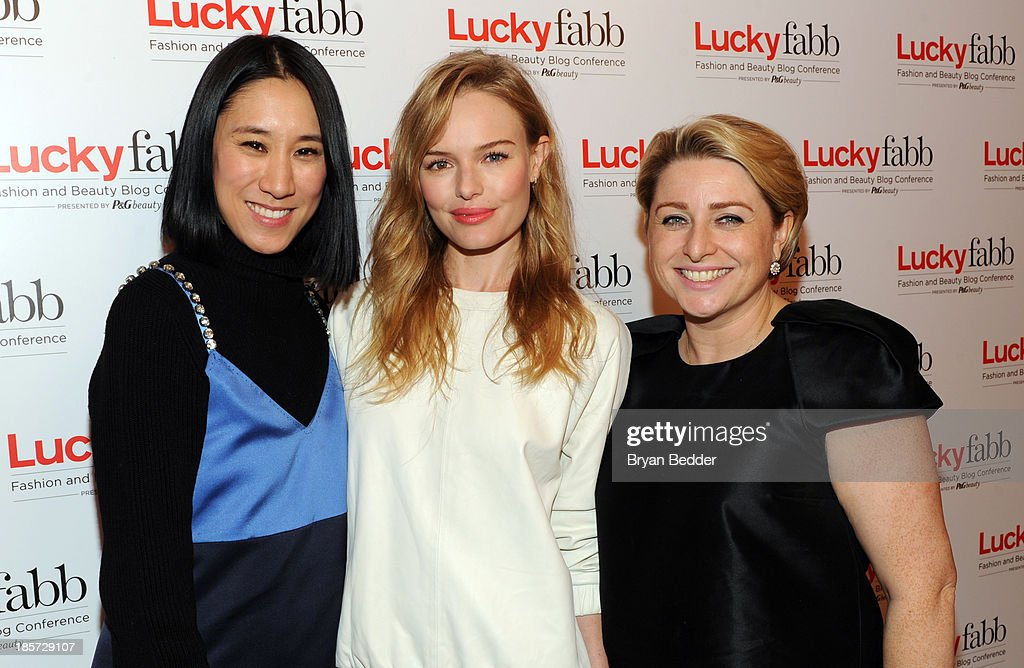 Editor in Chief of Lucky, Eva Chen, <a gi-track='captionPersonalityLinkClicked' href=/galleries/search?phrase=Kate+Bosworth&family=editorial&specificpeople=201616 ng-click='$event.stopPropagation()'>Kate Bosworth</a> and General Manager, SVP at Lucky Magazine Gillian Gorman Round attend Lucky Magazine's Two-Day East Coast