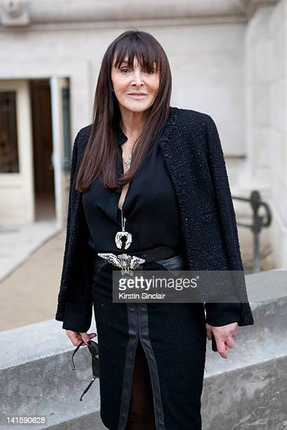 Editor in Chief of Numero magazine Mme Babette Djian at Paris Fashion Week Autumn/Winter 2012 womenswear shows on March 6 2012 in Paris France