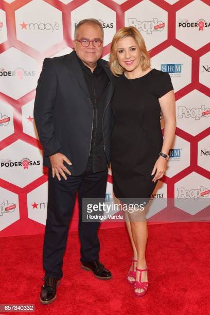 Editor in Chief of People en Espanol Armando Correa and Ana Maria Canseco attend People En Espanol's 25 Most Powerful Women Luncheon 2017 at Hyatt...
