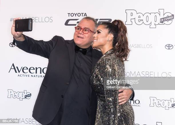 Editor in Chief of People en Espanol Armando Correa and Francisca Lachapel arrive at People en Espanol's 50 Most Beautiful Gala 2017 at Espace on May...