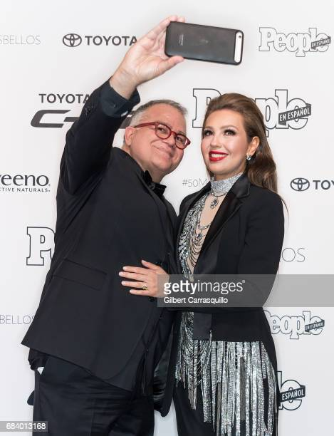 Editor in Chief of People en Espanol Armando Correa and Thalia Mottola arrive at People en Espanol's 50 Most Beautiful Gala 2017 at Espace on May 16...
