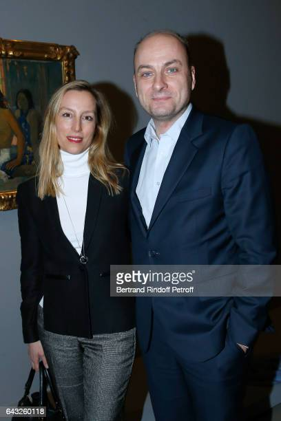 Editor in Chief of 'Point de Vue' Adelaide de Clermont Tonnerre and Journalist Laurent Delpech attend the Private View of 'Icones de l'Art Moderne la...