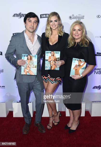 Editor in Chief of Sports Illustrated Chris Stone Kate Upton and Sports Illustrated Swimsuit editor MJ Day attend Sports Illustrated Swimsuit 2017...
