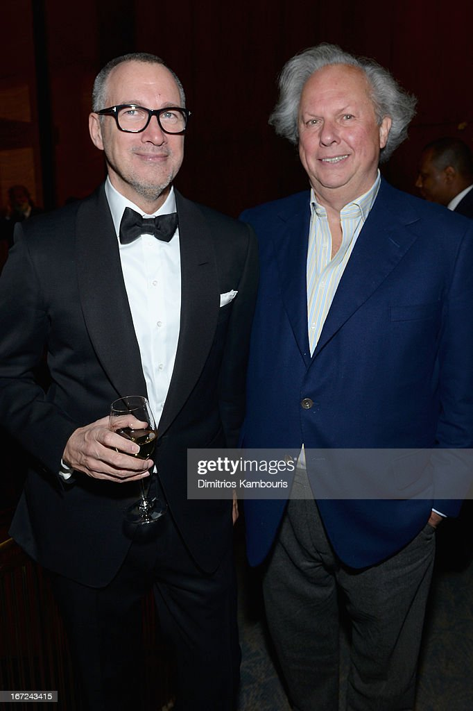 Editor in Chief of Vanity Fair Graydon Carter (R) attends the Conde Nast Celebrates Editorial Excellence: Toast To Editors, Writers And Contributors on April 22, 2013 in New York City.