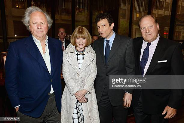 Editor in Chief of Vanity Fair Graydon Carter Conde Nast artistic director Anna Wintour Editor of The New Yorker David Remnick and CEO of Conde Nast...