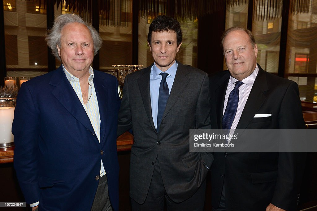Editor in Chief of Vanity Fair <a gi-track='captionPersonalityLinkClicked' href=/galleries/search?phrase=Graydon+Carter&family=editorial&specificpeople=605905 ng-click='$event.stopPropagation()'>Graydon Carter</a>, Editor of The New Yorker <a gi-track='captionPersonalityLinkClicked' href=/galleries/search?phrase=David+Remnick&family=editorial&specificpeople=235895 ng-click='$event.stopPropagation()'>David Remnick</a> and CEO of Conde Nast Chuck Townsend attend the Conde Nast Celebrates Editorial Excellence: Toast To Editors, Writers And Contributors on April 22, 2013 in New York City.