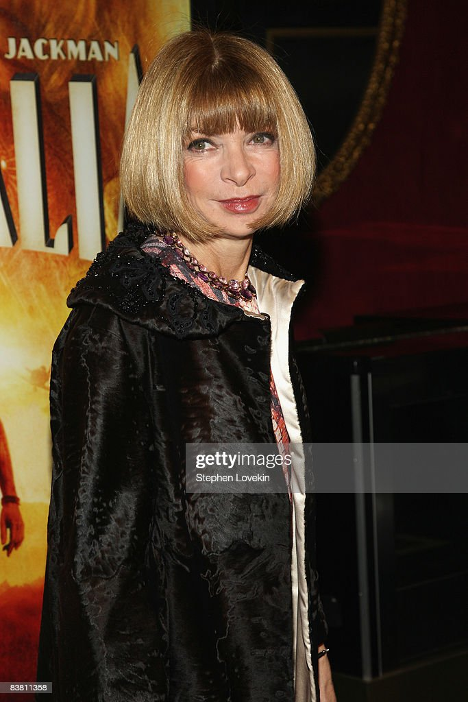 Editor in chief of Vogue Anna Wintour attends the premiere of 'Australia' at the Ziegfeld Theater on November 24, 2008 in New York City.