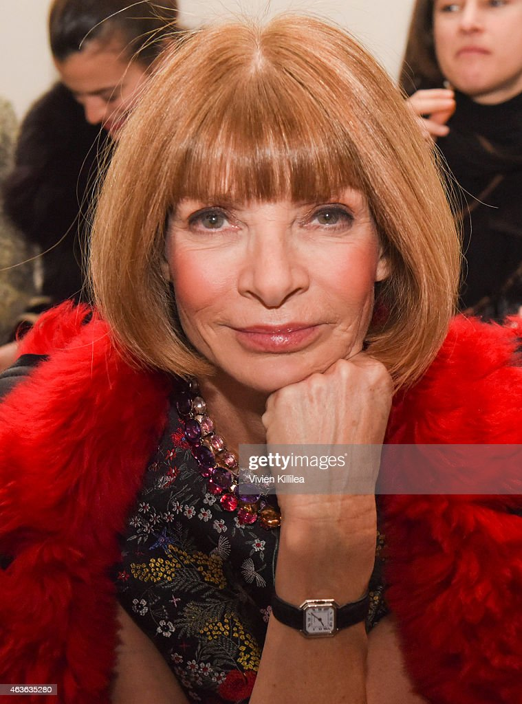 Editor in Chief of Vogue <a gi-track='captionPersonalityLinkClicked' href=/galleries/search?phrase=Anna+Wintour&family=editorial&specificpeople=202210 ng-click='$event.stopPropagation()'>Anna Wintour</a> attends the rag & bone show during Mercedes-Benz Fashion Week Fall 2015 at Spring Studios on February 16, 2015 in New York City.