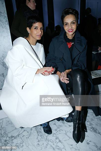 Editor in Chief of Vogue Arabia Princess Deena Aljuhani Abdulaziz and Farida Khelfa attend the Elie Saab Haute Couture Spring Summer 2017 show as...