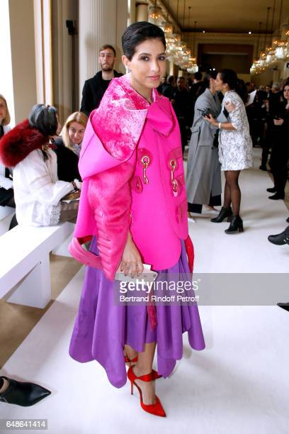 Editor in Chief of Vogue Arabia Princess Deena Aljuhani Abdulaziz attends the Giambattista Valli show as part of the Paris Fashion Week Womenswear...