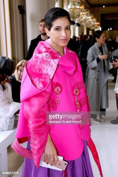 Editor in Chief of Vogue Arabia Princess Deena Aljuhani Abdulaziz attends the Giambattista Valli show as part of the Paris Fashion Week Womenswear...