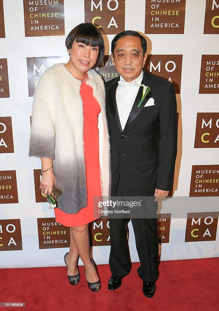 Editor in chief of Vogue China Angelica Cheung (L) and president and CEO Novel Holdings Group Silas Chou (R) attend the Museum of Chinese in America's Annual Legacy awards dinner at Cipriani Wall Street on December 3, 2012 in New York City.