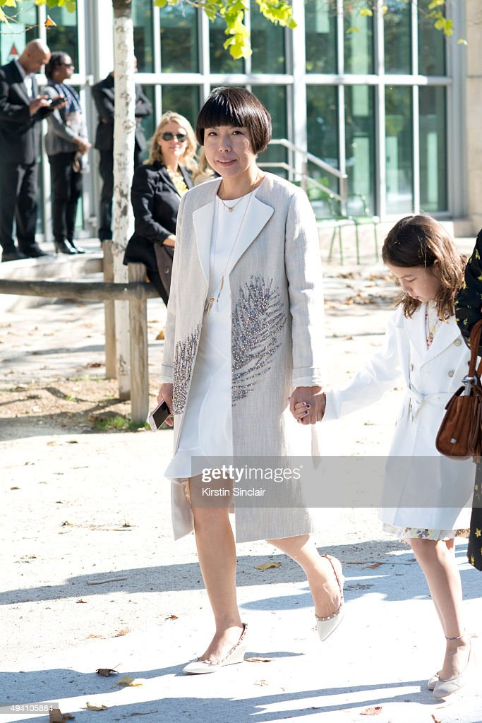 Editor in Chief of Vogue China Angelica Cheung on day 3 during Paris Fashion Week Spring/Summer 2016/17 on October 1 2015 in London England