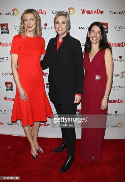 Editor in chief of Woman's Day Susan Spencer 07 actress Jane Lynch and publisher CRO of Woman's Day Kassie attend the 14th annual Woman's Day Red...
