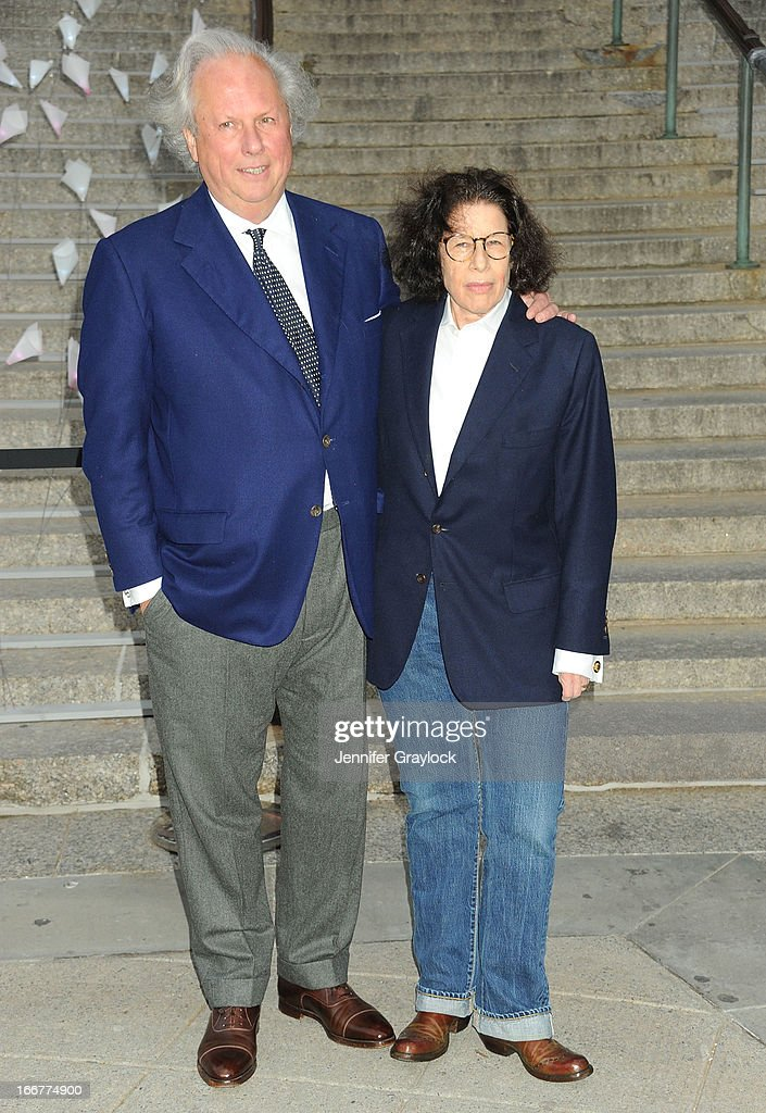Editor in Chief Vanity Fair Magazine Graydon Carter and Writer Fran Lebowitz attend the Vanity Fair Party 2013 Tribeca Film Festival Opening Night Party held at the New York State Supreme Courthouse on April 16, 2013 in New York City.