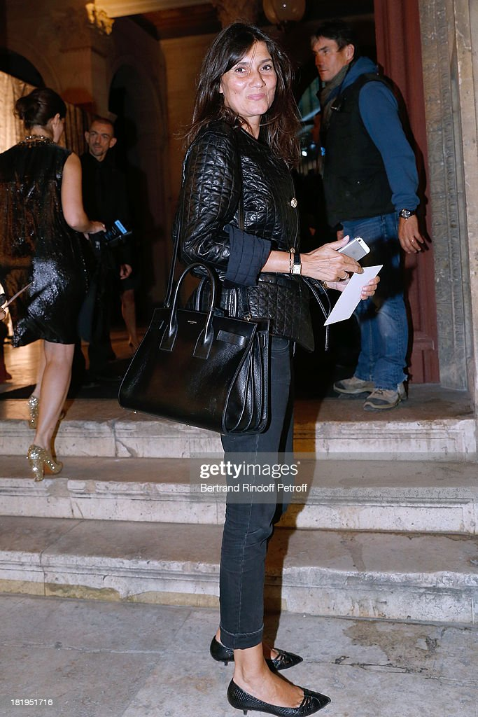 Editor in Chief Vogue France, Emmanuelle Alt arriving at Lanvin show as part of the Paris Fashion Week Womenswear Spring/Summer 2014, held at 'Ecole des beaux Arts' on September 26, 2013 in Paris, France.