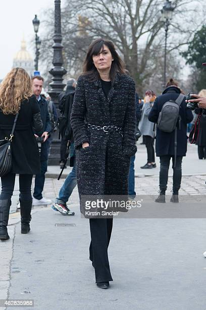 Editor in Chief Vogue Paris Emmanuelle Alt on day 3 of Paris Haute Couture Fashion Week Spring/Summer 2015 on January 27 2015 in Paris France