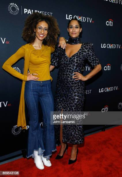 Editor inChief of Teen Vogue Elaine Welteroth and actor Tracee Ellis Ross attend PaleyFest NY 2017 'Blackish' at The Paley Center for Media on...