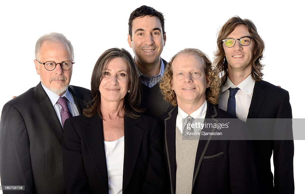 Editor Jay Cassidy producers Jonathan Gordon Donna Gigliotti Bruce Cohen and editor Crispin Struthers pose for a portrait during the 85th Academy...