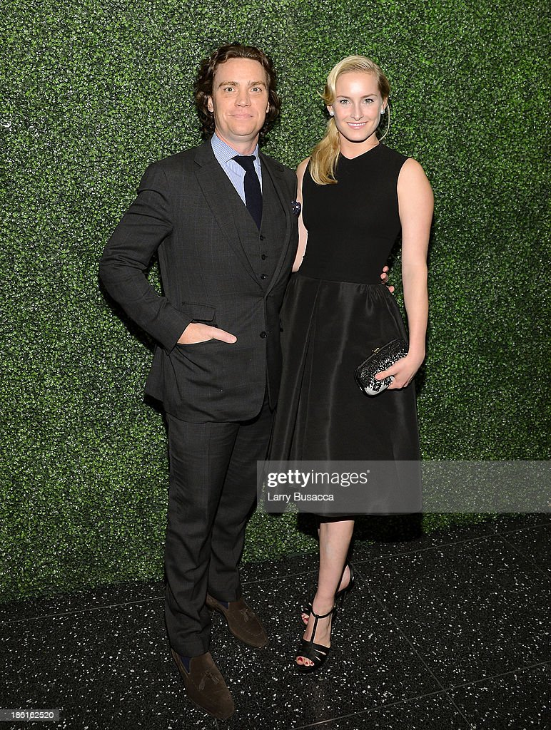 Editor Jay Fielden and actress Ginna Le Vine arrive as Ralph Lauren Presents Exclusive Screening Of Hitchcock's To Catch A Thief Celebrating The Princess Grace Foundation at MoMA on October 28, 2013 in New York City.