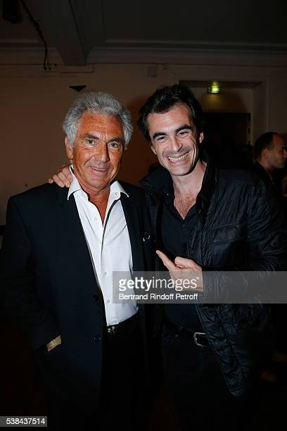 Editor JeanPaul Enthoven and his son philosopher Raphael Enthoven the Concert of Patrick Bruel at Theatre Du Chatelet on June 6 2016 in Paris France
